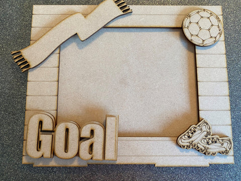 MDF Football photo frame and stand
