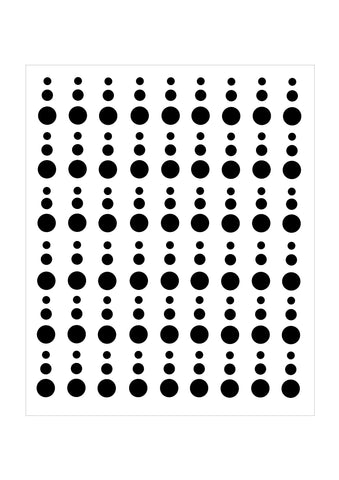 background stencil circle drops