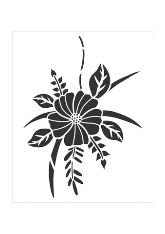 Hibiscus Bloom Stencil