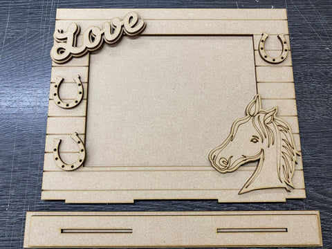 MDF Horse themed 3D photo frame
