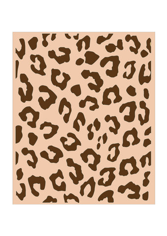 Leopard Print Background Stencil