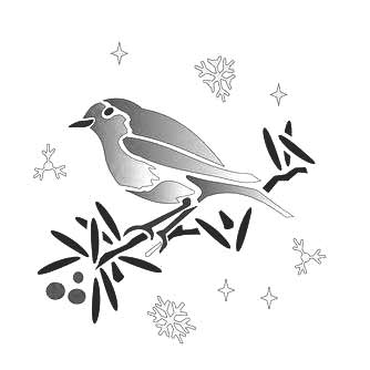 Robin Stencil for Cards and Crafts
