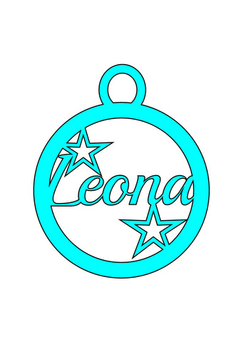 Personalized MDF Star Bauble