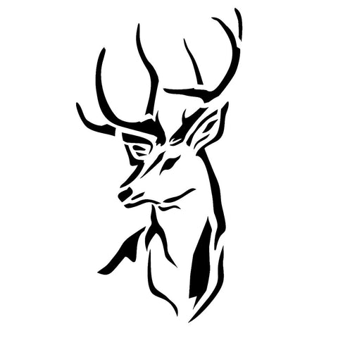 Deer Head Stencil for cards and crafts - Mylar Stencil