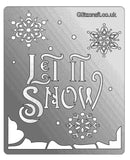"Let it snow stencil with snowflakes. ""Let it Snow"""