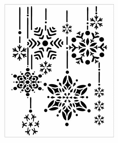 Stencil of falling snowflakes for cards and crafts with this mylar stencil