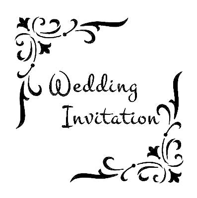 Wedding Invitation stencil for card making
