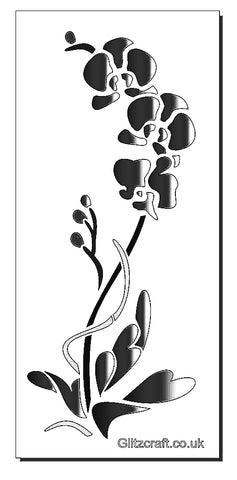 Tall Orchid Stencil for cards and crafts