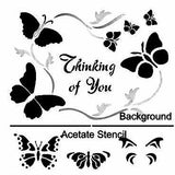 3D Thinking of You Butterfly Stencil by Glitzcraft