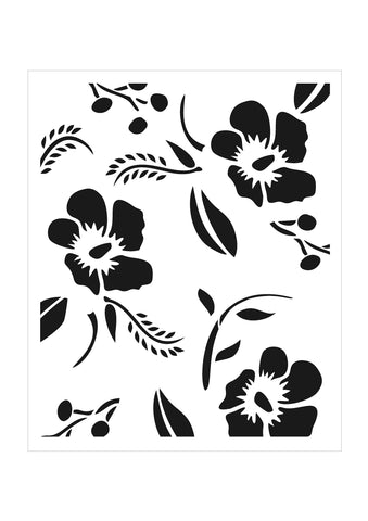 Tropical Background Stencil