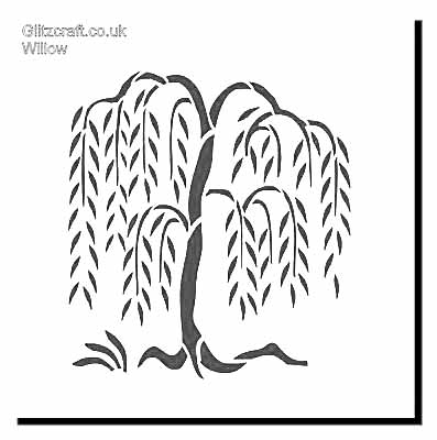 Willow Tree Stencil by Glitzcraft