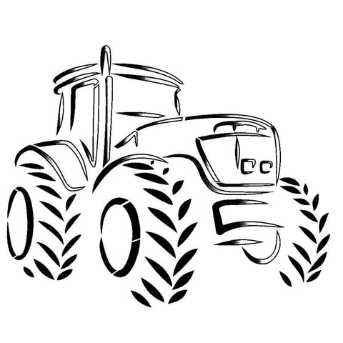 Farm Tractor Stencil for cards and crafts