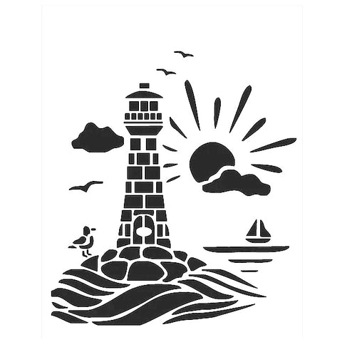 Lighthouse Stencils for Beach seaside theme - Mylar stencils