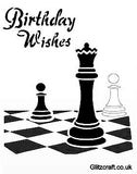 Stencil for card making - Chess theme for Birthday
