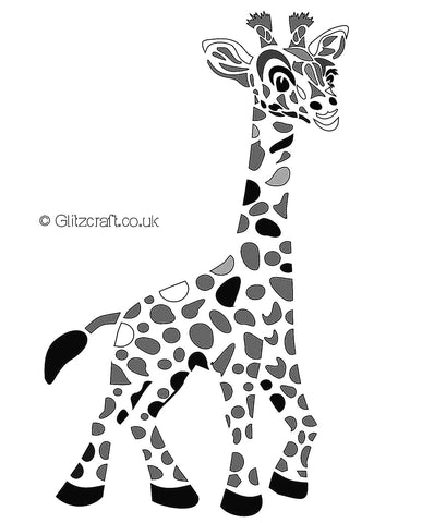Giraffe Stencil for cards and crafts