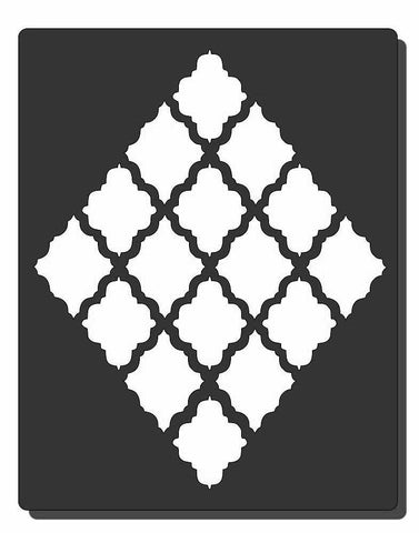 Stencil of diamond weave background for card making and crafts
