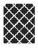 Stencil of square weave background for card making and crafts