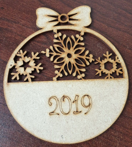 MDF 2019 Snowflake Bauble