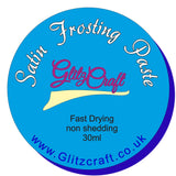 Aqua Blue Satin  30ml Tub, Satin Paste- Glitzcraft