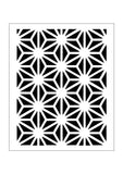 Geometric pattern starburst for cards and crafts