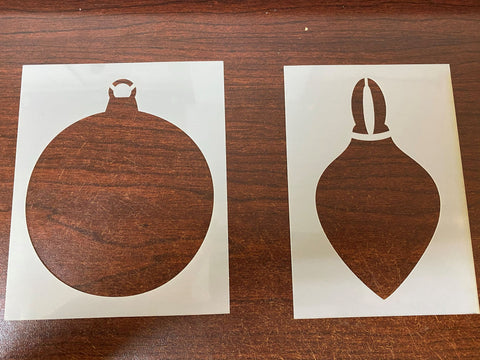 set of 2 Bauble Mask / Stencils