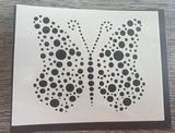 Butterfly Bubble stencil