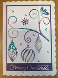 Christmas Bauble Swirl Stencil with Glitzcraft paste