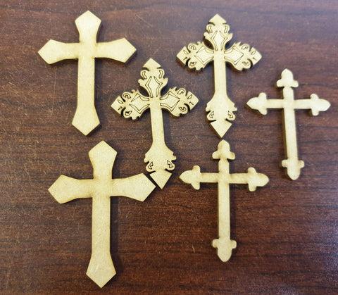 MDF Crosses - 6 pcs