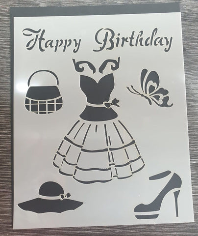 Dress Collection Stencil