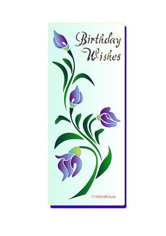 DL - Floral Birthday Wishes