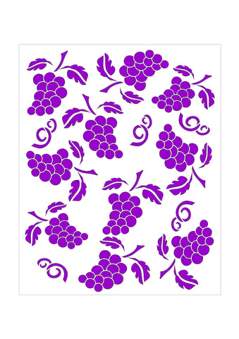 Cocktails - Grapes Background Stencils