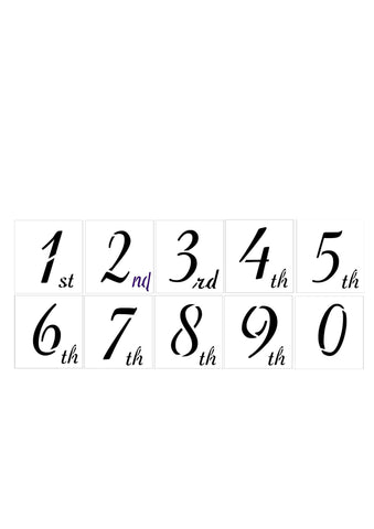Number Stencil Set - 0 to 9