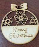 MDF Merry Christmas Bauble