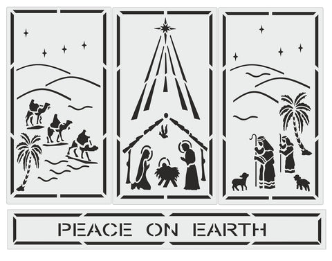 Nativity Trio Peace on Earth