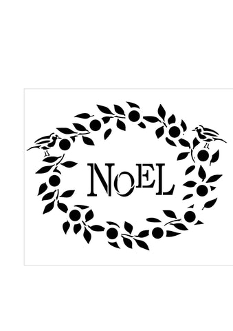 NOEL Wreath with Robins