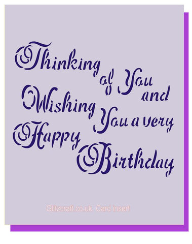 Birthday Insert, Stencils- Glitzcraft