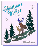 Christmas Wishes, Stencils- Glitzcraft
