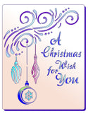 Christmas Stencil Mylar Stencil - A Christmas Wish for You