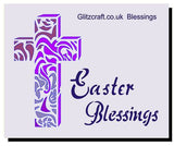 Easter Blessings  5x4, Stencils- Glitzcraft