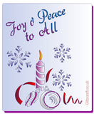 Joy & Peace, Stencils- Glitzcraft