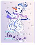 Snowman Stencil - Let it Snow
