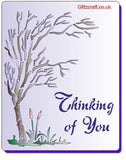 Thinking of You Tree Stencil for card making or crafting