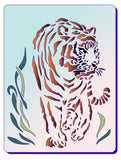 Tiger stencil for cards and crafts