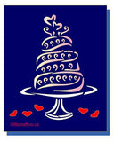 Wedding Cake Stencil for card making