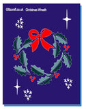 Christmas wreath holly stencil for cards and crarfts