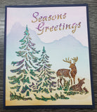 Glitzcraft Card with Deer and trees