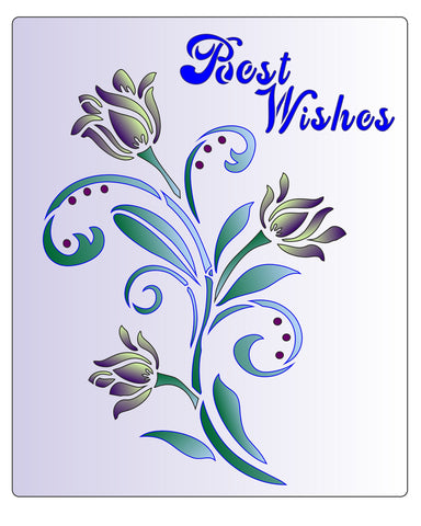 Best Wishes Floral Twisle
