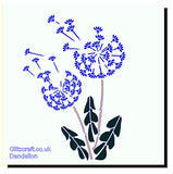 Dandelion Seeds Stencil for cards and crafts