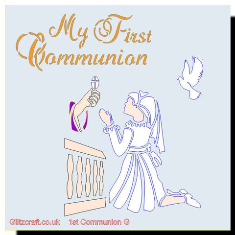 My First Communion Girl Stencil
