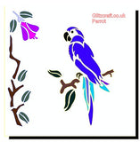 Parrot Stencil for card making and crafts